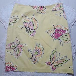 ☄Talbots Bright Butterflies Skirt- Size  4